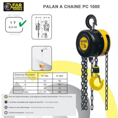 Palan cha ne pc1000 fartools fartools 182008 vente de - Palan a chaine ...