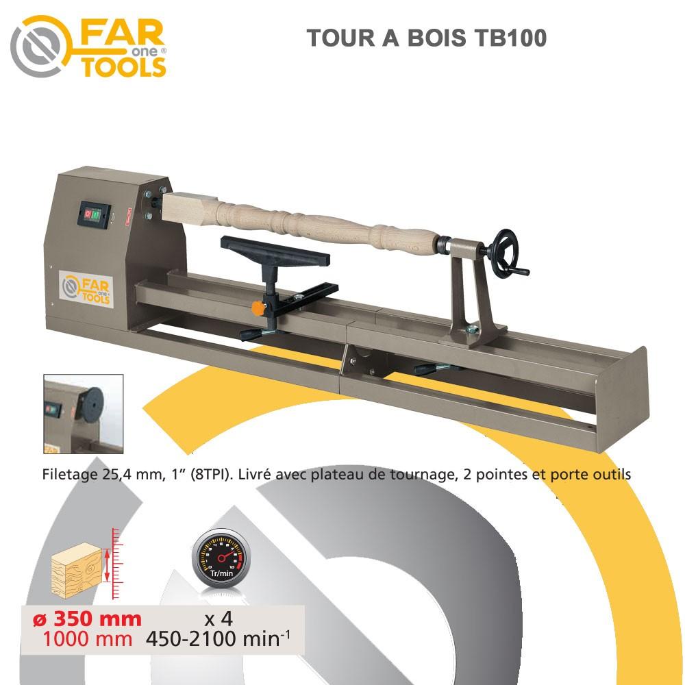tour bois tb100 fartools fartools 113250 vente de tour. Black Bedroom Furniture Sets. Home Design Ideas