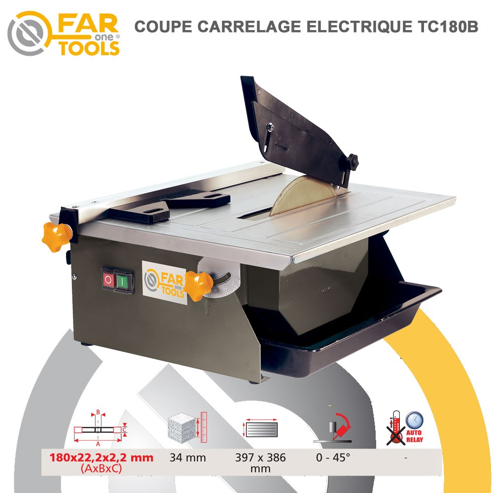 Coupe carrelage tc180b fartools 113500 fartools vente de for Couper carrelage