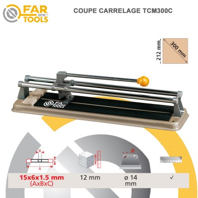 Coupe carrelage manuel tcm300c fartools 210110 fartools for Coupe carrelage manuel