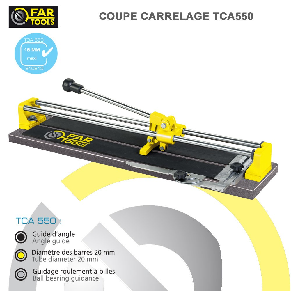 Coupe carrelage manuel tca550 fartools 210215 fartools for Couper carrelage