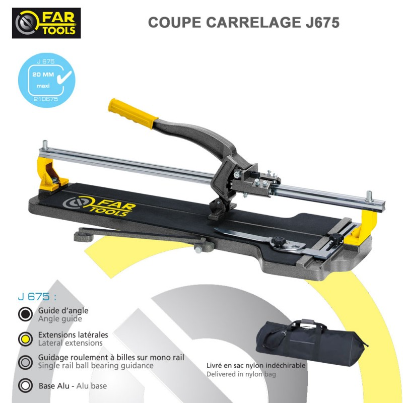 Coupe carrelage manuel j675 fartools 210675 fartools for Coupe carrelage manuel