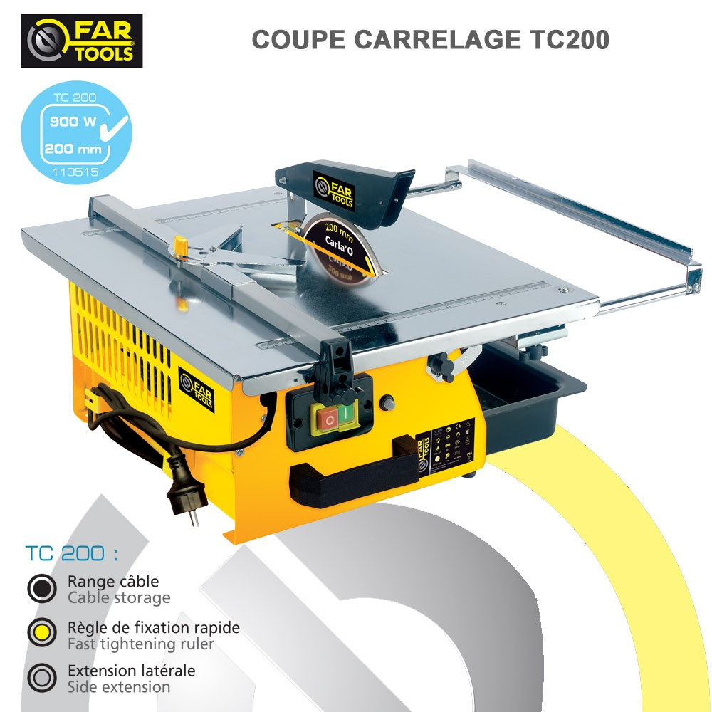 Coupe carrelage tc200 fartools 113515 fartools vente de for Couper carrelage