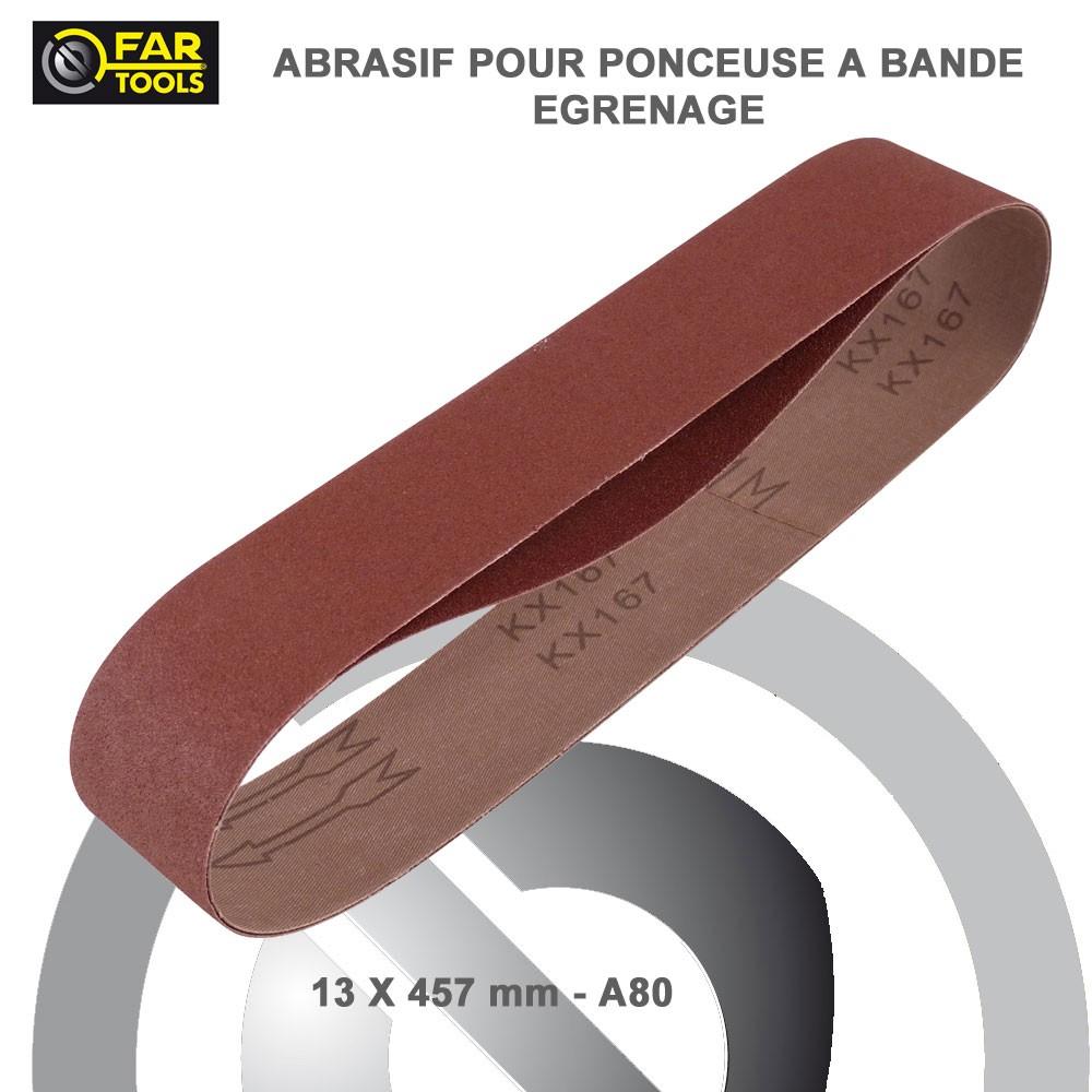 Lot de 6 bandes abrasives bois m tal pour ponceuse yo 400 - Bande pour ponceuse ...