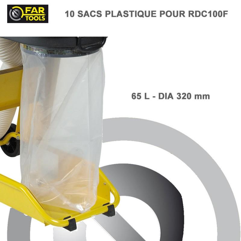 Sac plastique aspirateur copeaux