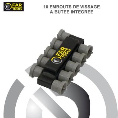 10 embouts de vissage à butée intégré