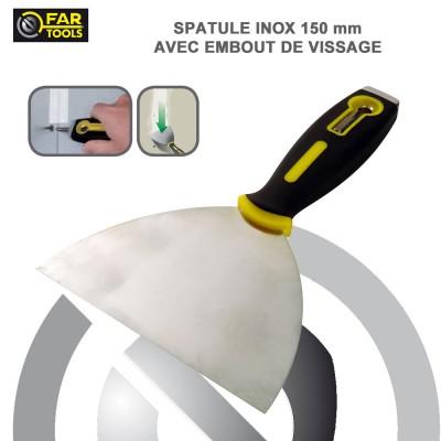 spatule spéciale enduit inox avec embout de vissage