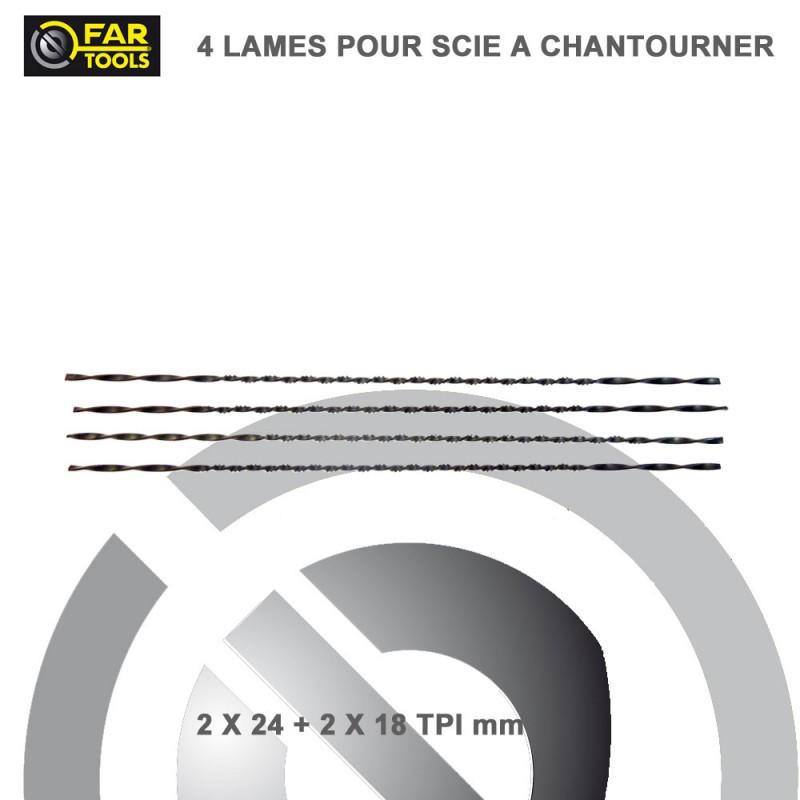 4 lames de scie chantourner 127 mm fartools 113810. Black Bedroom Furniture Sets. Home Design Ideas