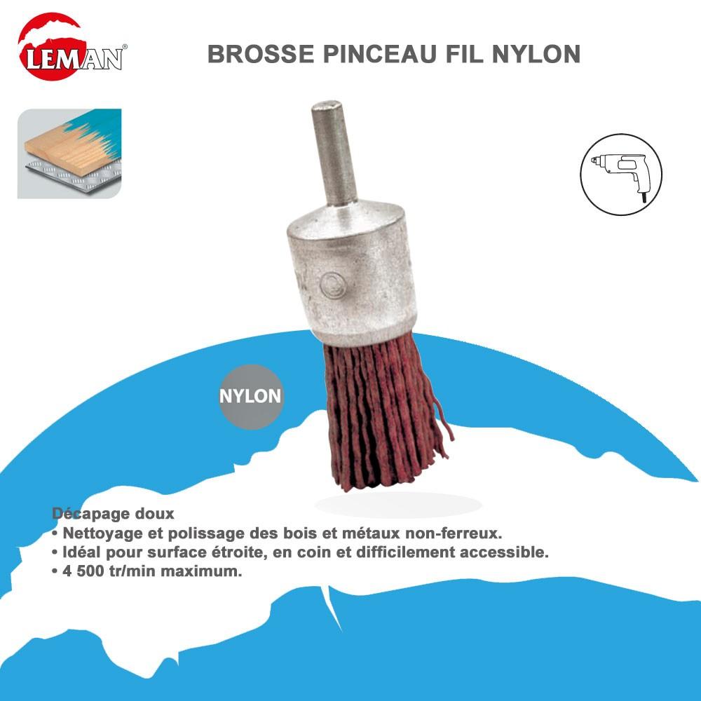brosse pinceau fil nylon pour perceuse leman leman vente d. Black Bedroom Furniture Sets. Home Design Ideas