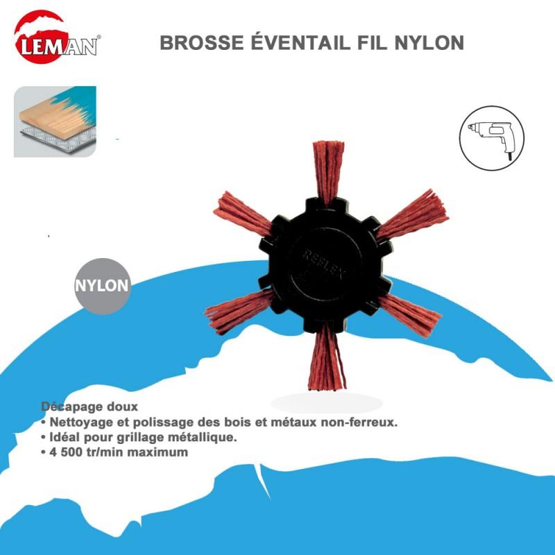 brosse ventail fil nylon pour perceuse leman. Black Bedroom Furniture Sets. Home Design Ideas