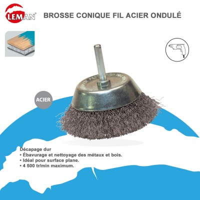 brosse acier pour meuleuse emploi entretien b timent polyvalent. Black Bedroom Furniture Sets. Home Design Ideas