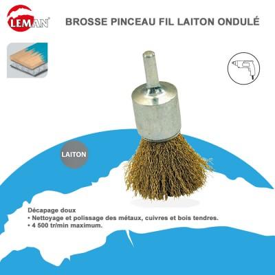 Brosse pinceau fil laiton pour perceuse leman - Brosse pour perceuse ...