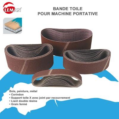 Lot 10 bandes abrasives pour ponceuses portatives leman - Bande pour ponceuse ...