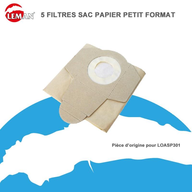 filtre sac papier lot petit format 5 pces pour loasp301 leman abr. Black Bedroom Furniture Sets. Home Design Ideas