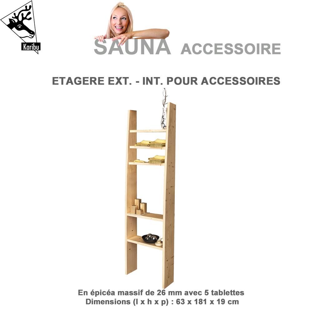Petite tag re pour sauna karibu 21423 karibu vente d accessoires - Accessoires pour sauna ...