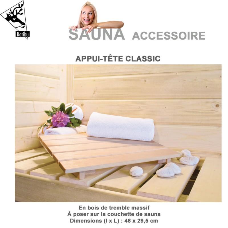 Repose t te classic pour sauna karibu 20708 karibu vente d accesso - Accessoires pour sauna ...