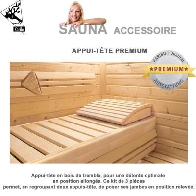Banc pour sauna karibu 21748 karibu vente d accessoires pour sauna - Accessoire pour sauna ...