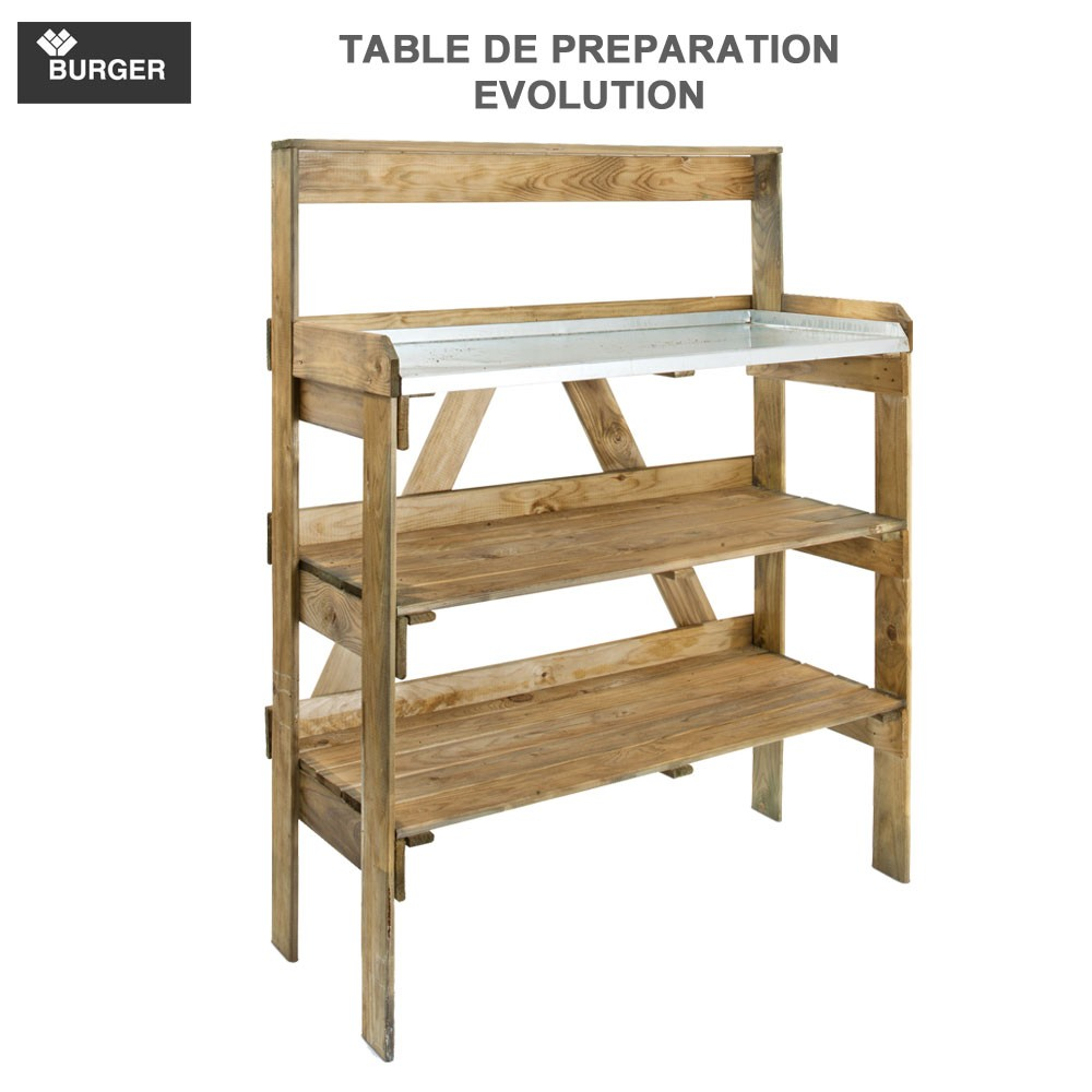 Table de jardinage rempotage en hauteur evolution burger for Banco de jardin ikea