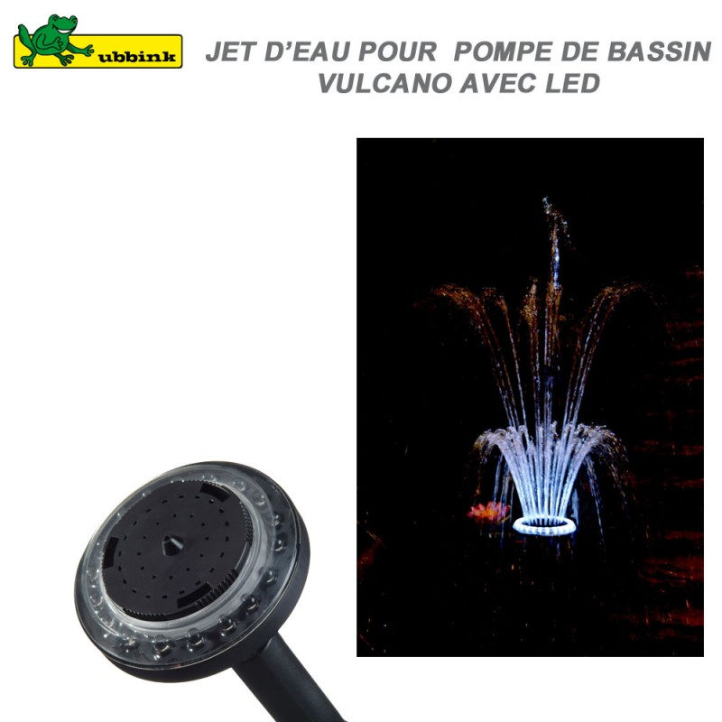 Jet d 39 eau pour pompe de bassin vulcano led ubbink 1350200 ubbink v - Jet d eau solaire pour petit bassin ...