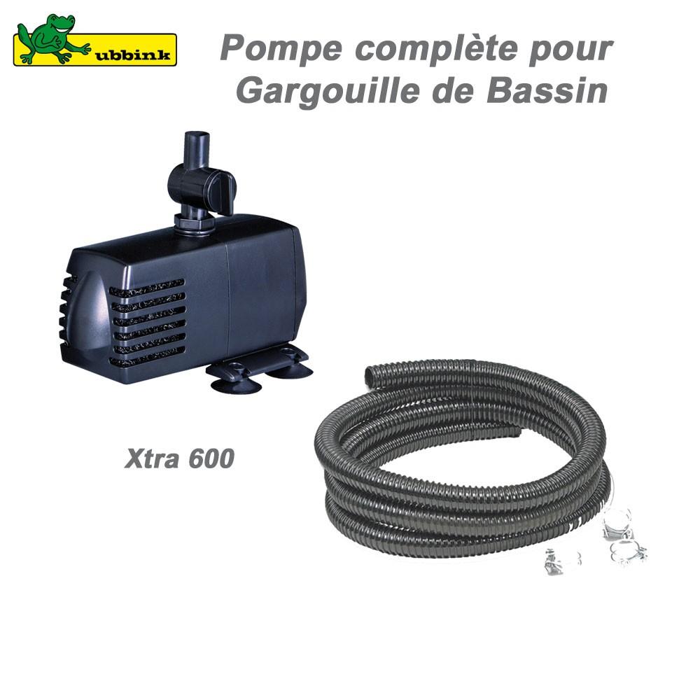 Pompe pour gargouille de bassin ext rieur xtra 600 ubbink for Pompe de bassin filtrante