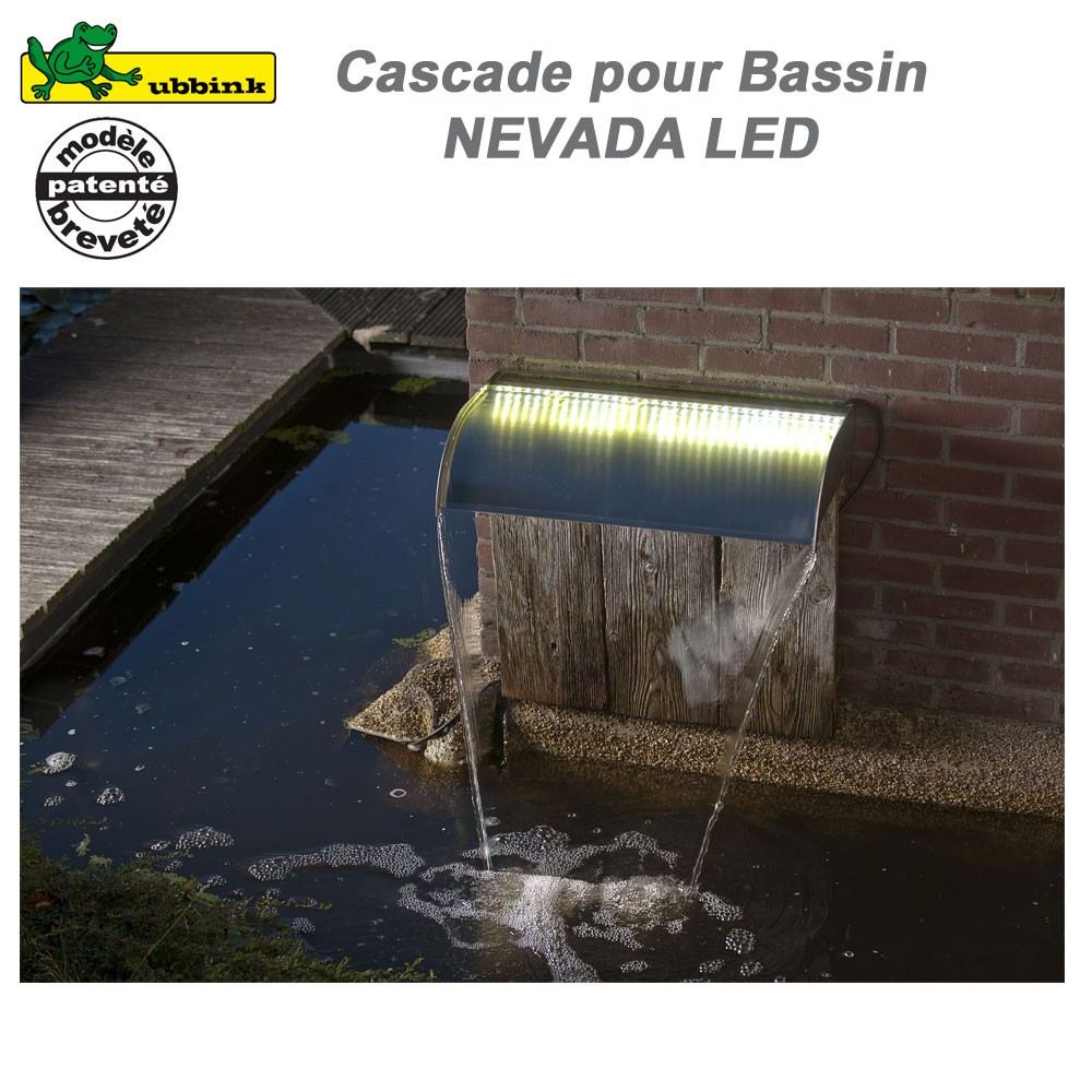 Cascade pour bassin de jardin ext rieur nevada 30 led ubbink 131211 - Cascade pour bassin exterieur ...