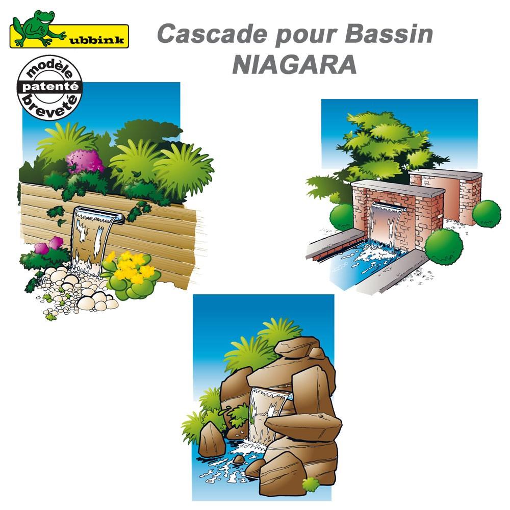 cascade de bassin de jardin ext rieur niagara 30 ubbink 1312085 ubb. Black Bedroom Furniture Sets. Home Design Ideas