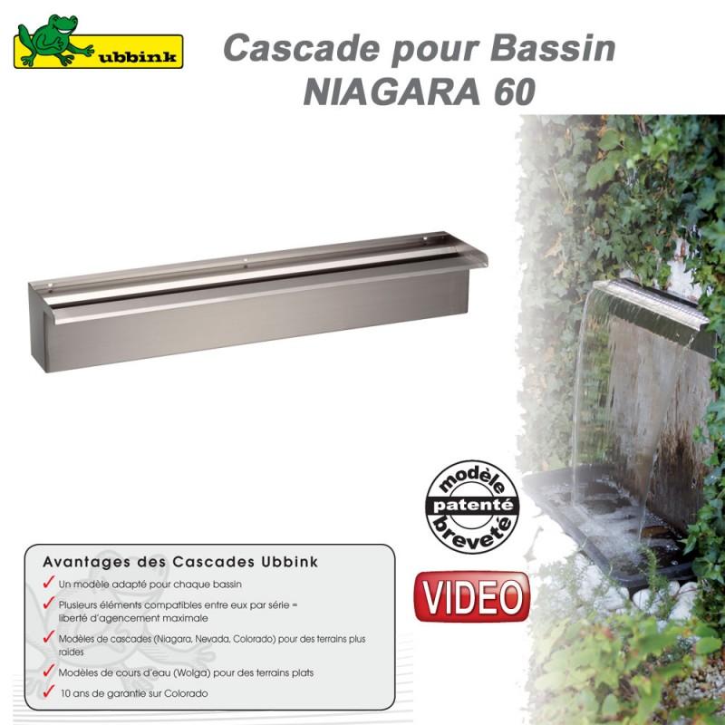 Cascade de bassin de jardin ext rieur niagara 60 ubbink 1312086 ubb - Cascade bassin exterieur ...