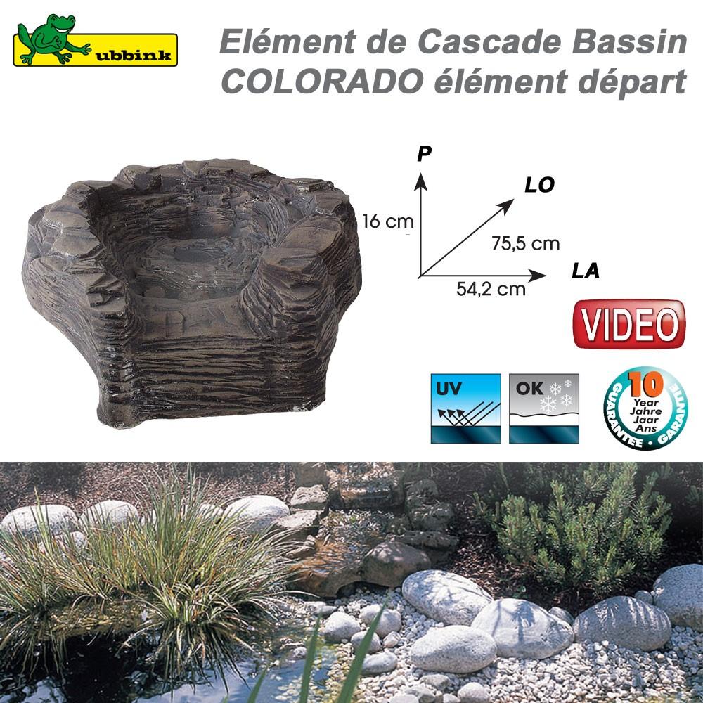 Cascade cours d 39 eau de bassin de jardin en r sine colorado - Cascade d eau de jardin ...