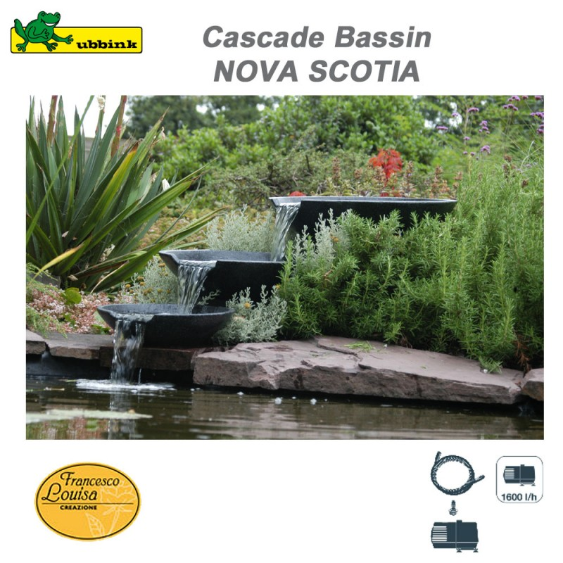 cascade de bassin ext rieur de jardin nova scotia ubbink 1312100 ub. Black Bedroom Furniture Sets. Home Design Ideas