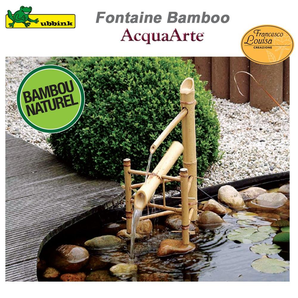 Fontaine pour bassin de jardin bamboo ubbink 1221602 for Vente de bache pour bassin
