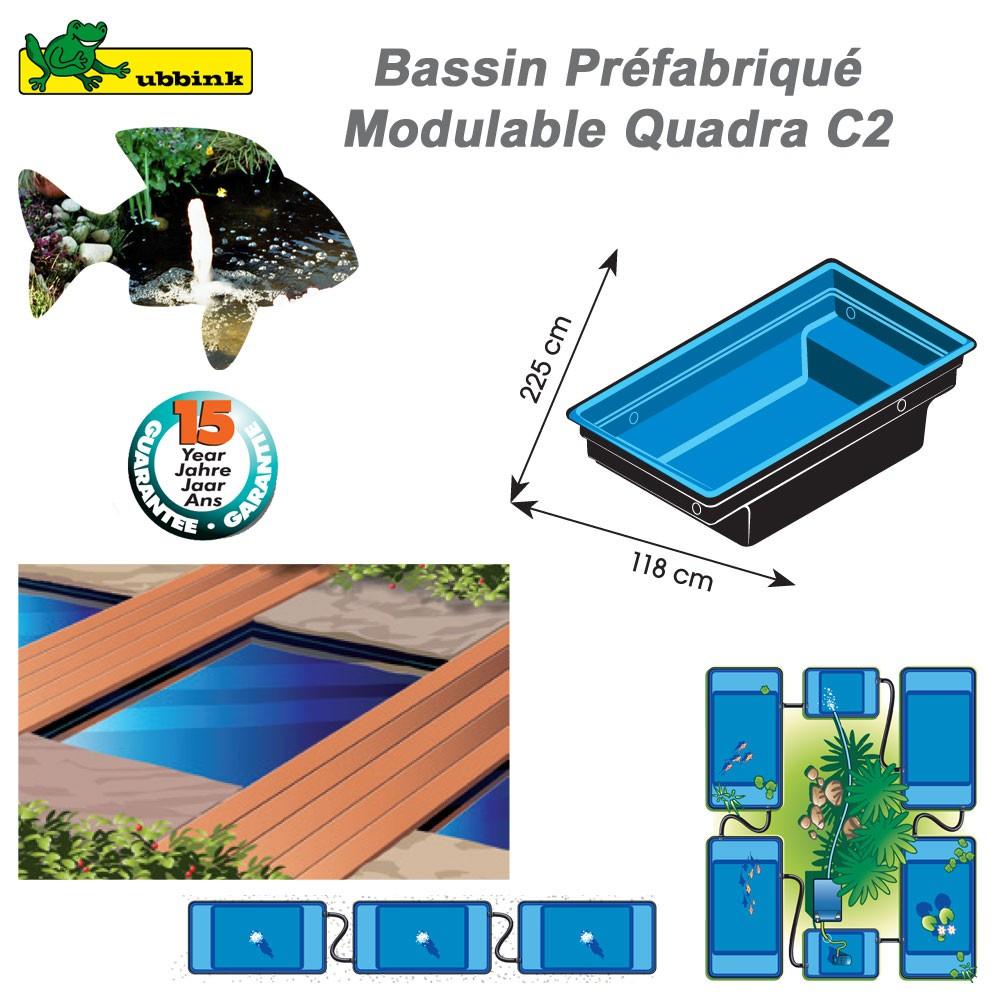 Bassin pr fabriqu de jardin quadra c2 ubbink 1311002 for Prix bassin jardin