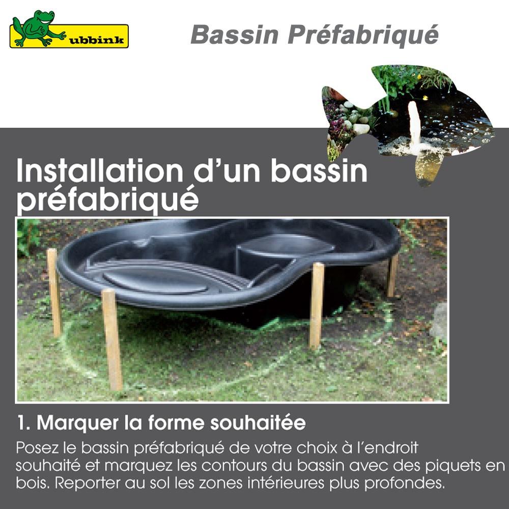 Bassin pr fabriqu de jardin ocean ii ubbink 1311040 ubbink vente for Bassin de jardin preforme ubbink