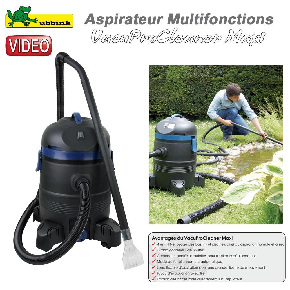 Aspirateur multifonction vacuprocleaner maxi ubbink clic for Aspirateur pour bassin