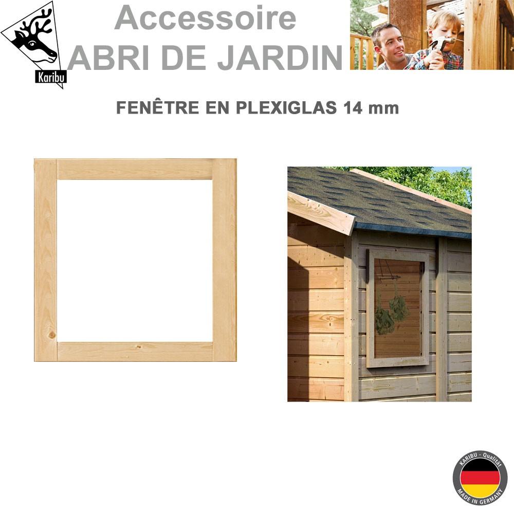 Fen tre fixe 14 mm pour abri de jardin karibu 51709 karibu for Fenetre fixe