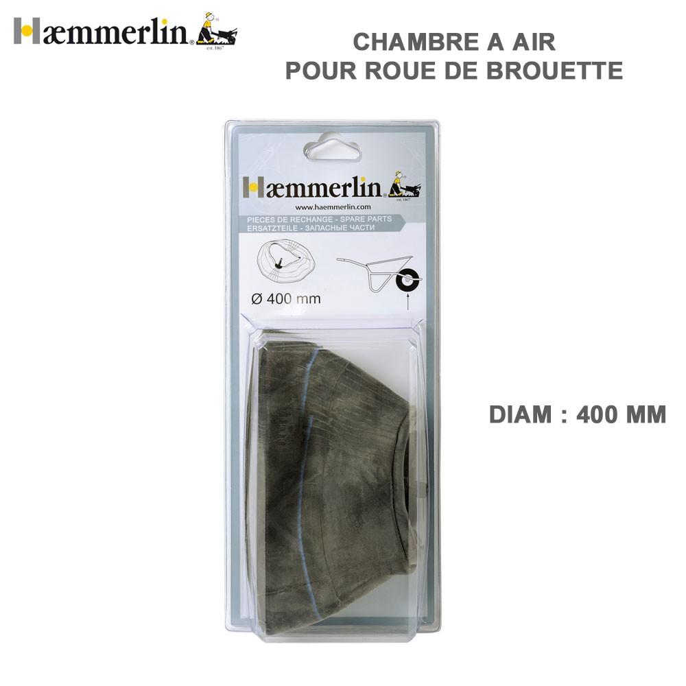 chambre air diam 400 mm pour brouettte haemmerlin 309003306 haemm. Black Bedroom Furniture Sets. Home Design Ideas