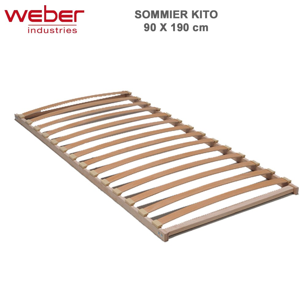 sommier kito 90 x 190 cadre bois 7156 weber vente de matelas et so. Black Bedroom Furniture Sets. Home Design Ideas