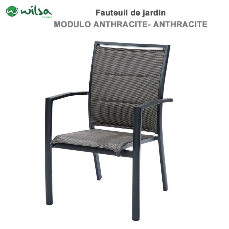 Fauteuil de jardin modulo gris wilsa garden 600020 wilsa for Fauteuil jardin tresse gris