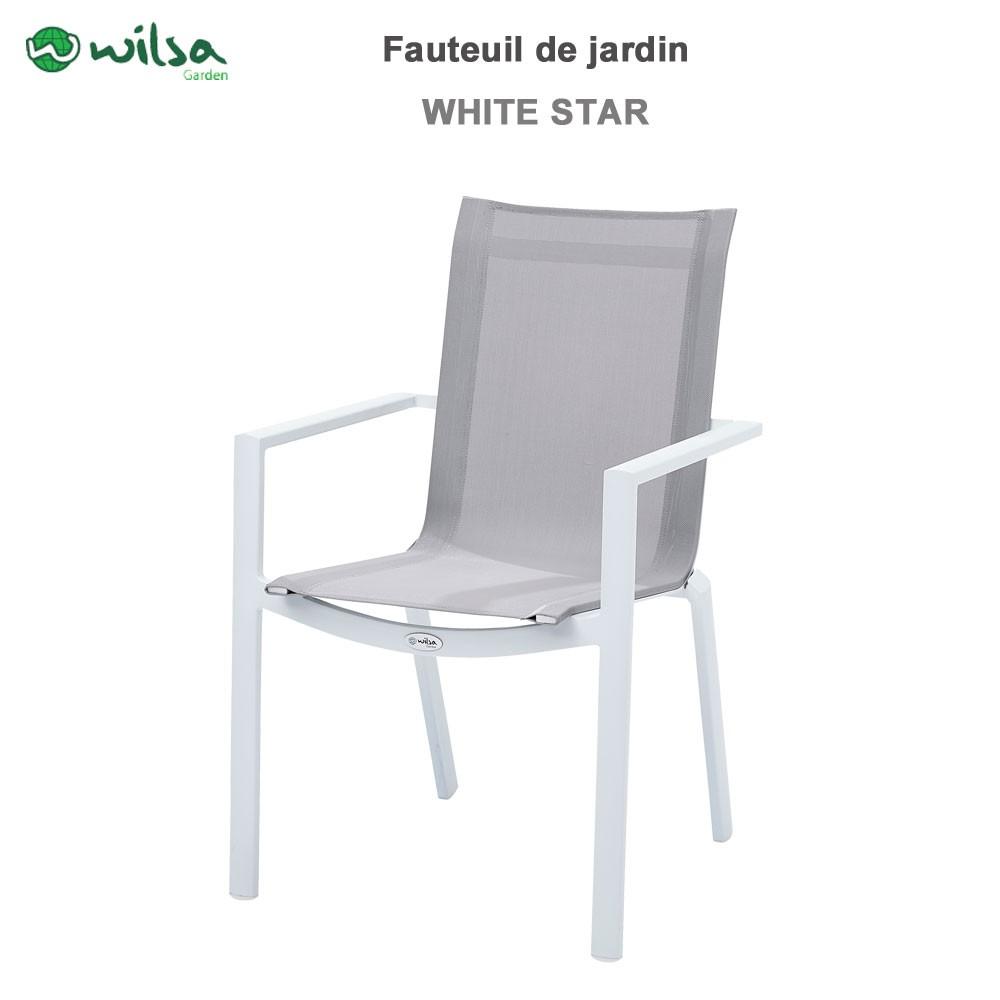 Fauteuil de jardin whitestar blanc wilsa garden 602030 wilsa garde - Fauteuil jardin blanc ...