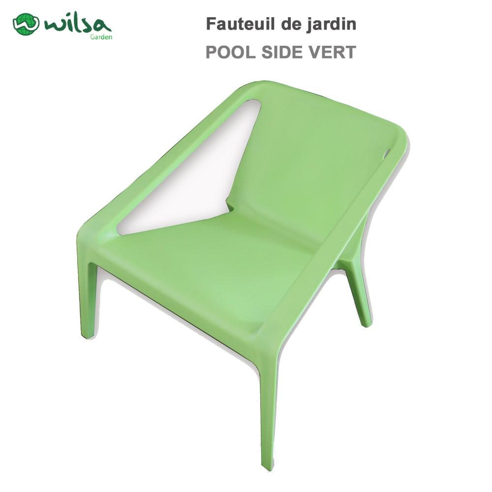 fauteuil de jardin pool side vert wilsa garden 602280. Black Bedroom Furniture Sets. Home Design Ideas