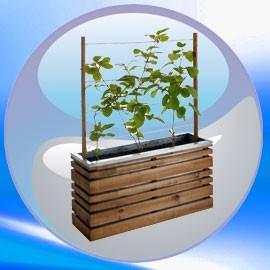 bac fleur d 39 ext rieur en bois pour embellir jardins et. Black Bedroom Furniture Sets. Home Design Ideas