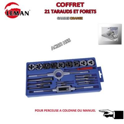 Coffret 21 Pièces Tarauds-Filières-Accessoires
