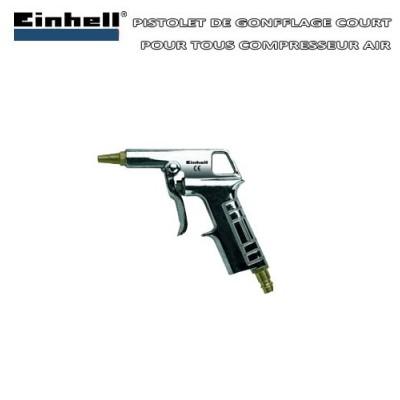 Pistolet de gonfflage bec court pour compresseur