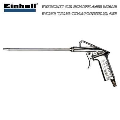 Pistolet de gonfflage bec long pour compresseur