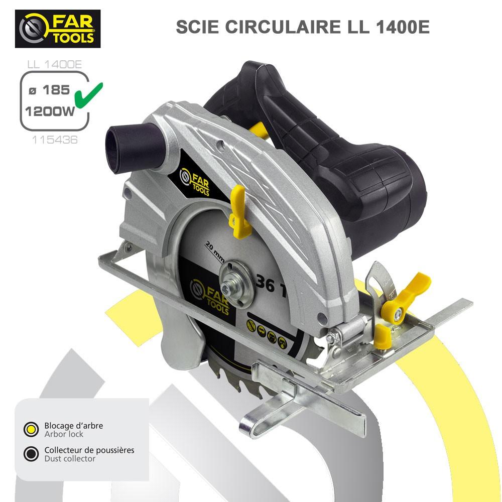 Scie circulaire ll1400 115436 fartools - Cdiscount scie circulaire ...