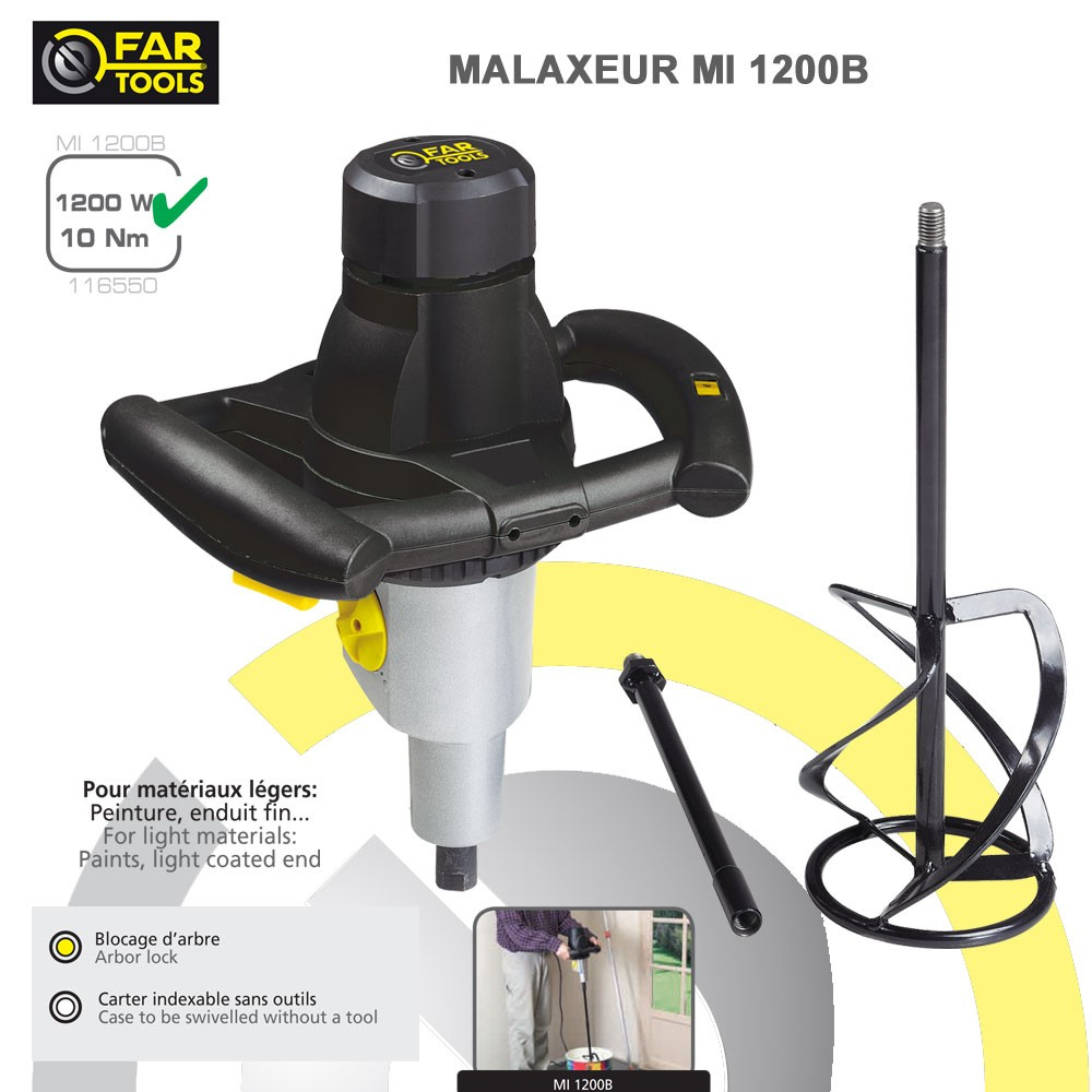 malaxeur peinture colle mi1200116550 fartools. Black Bedroom Furniture Sets. Home Design Ideas