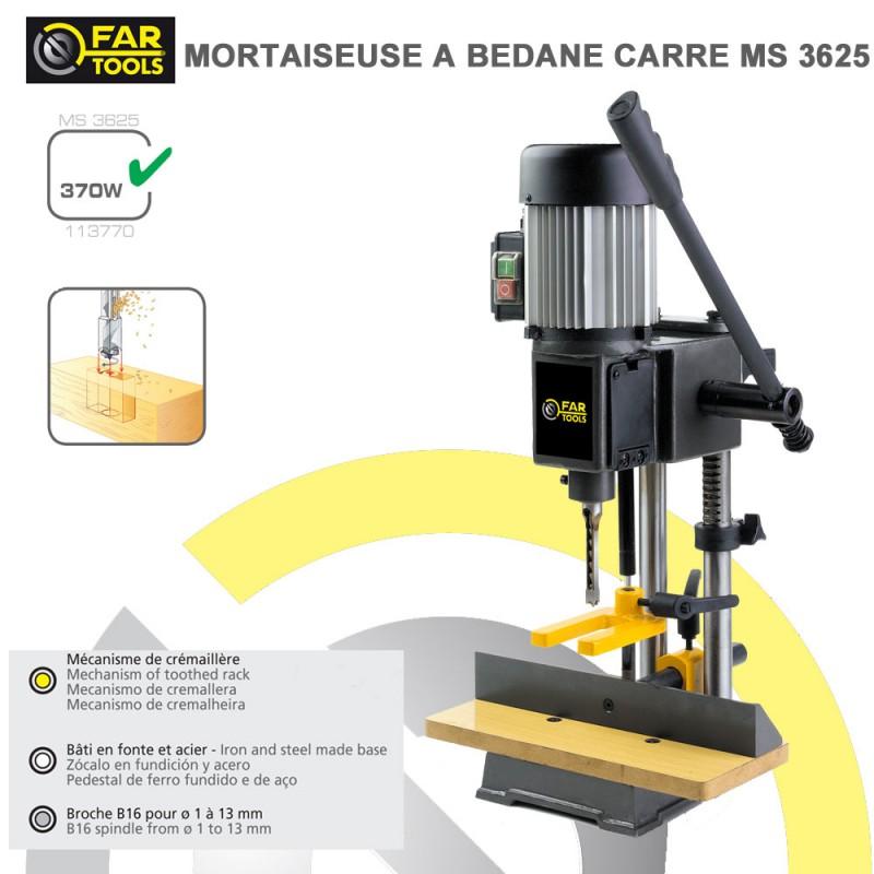 Mortaiseuse b dane carr ms3625113770 fartools - Mortaiseuse a bedane ...