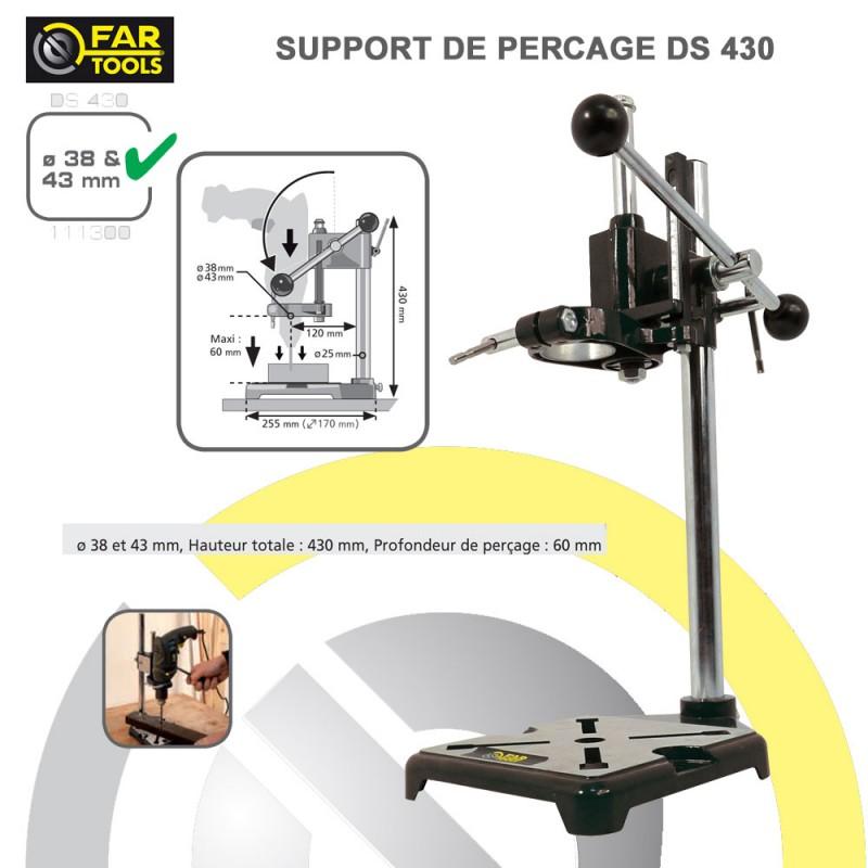support de percage pour perceuse portatif ds400 52 00 fartools. Black Bedroom Furniture Sets. Home Design Ideas
