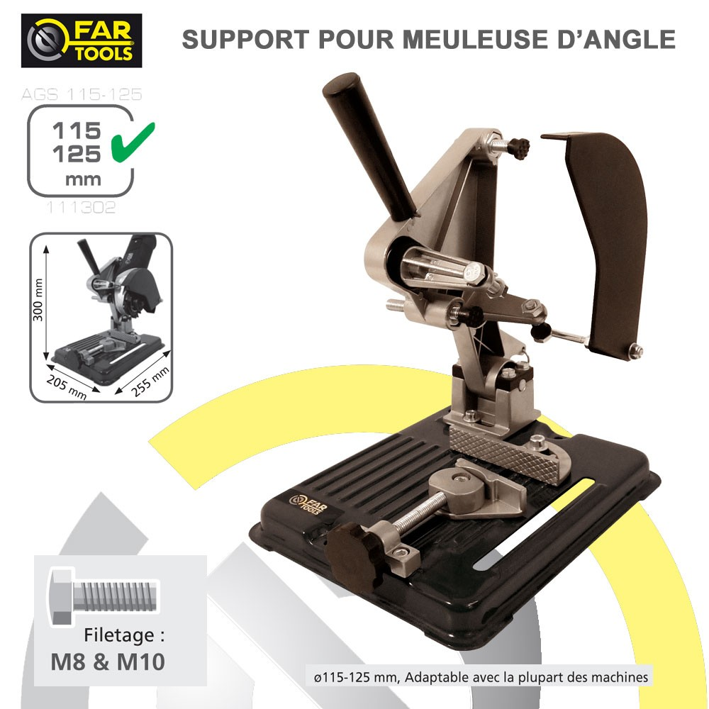 Support pour meuleuse d 39 angle ags115 125 111302 fartools - Meuleuse d angle lidl ...