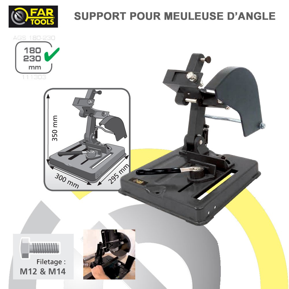 Support pour meuleuse d 39 angle ags180 230 111303 fartools - Meuleuse d angle ...