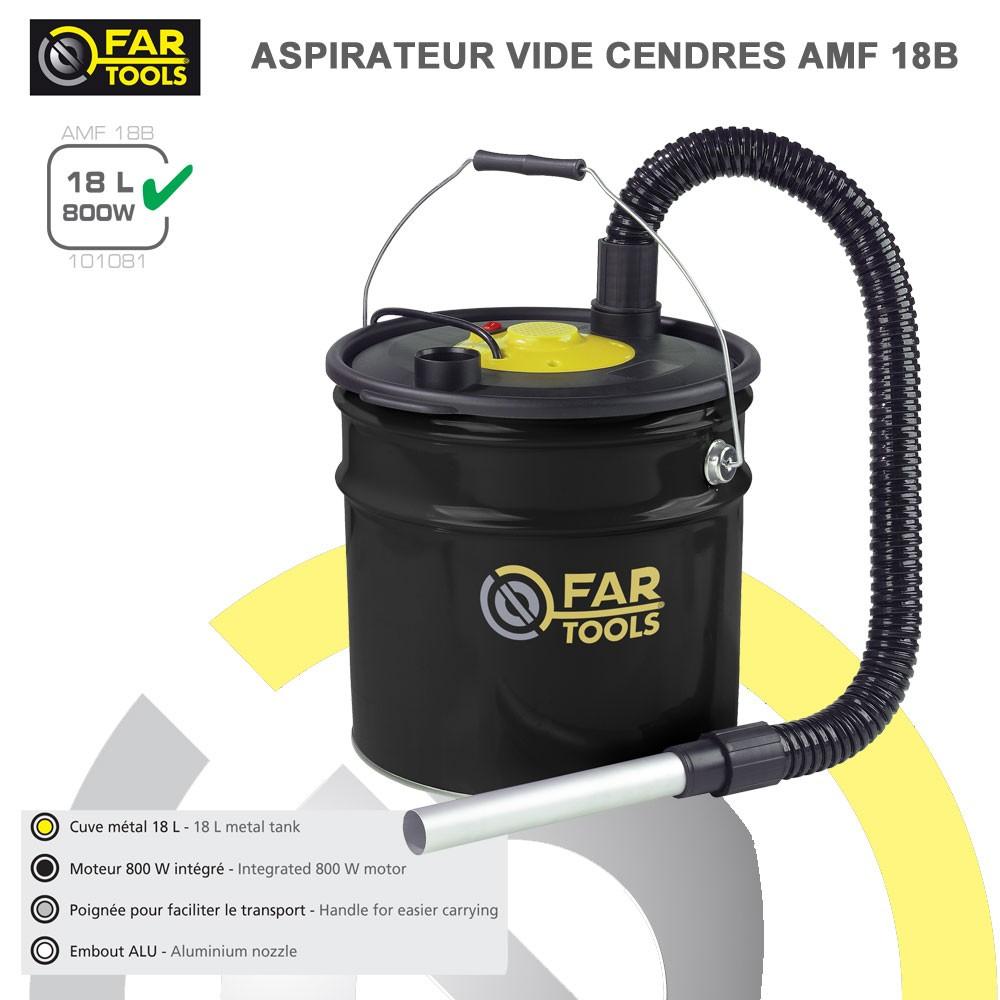 Aspirateur cendres amf18b 101081 fartools - Aspirateur a cendre ...